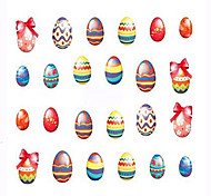 1pcs 12Design Hot Halloween Coloful Nail Art Sticker Lovely Rabbit Cute Chick Colored Egg Design Nail Water Transfer Decals Nail Beauty Tip BN541-552