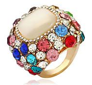 Недорогие -Жен. Массивные кольца Цирконий Винтаж европейский Мода Сплав Круглый Бижутерия Подарок Новый год