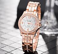 baratos -Mulheres Quartzo Relógio de Pulso Chinês Relógio Casual Aço Inoxidável Banda Casual Elegant Fashion Prata Dourada Ouro Rose