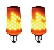 abordables -2 unids 5 w e27 99leds led bombillas de bombillas de efecto de llama parpadeo emulación luces decorativas led luz de maíz ac85-265v