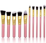cheap -10pcs Foundation Brush Powder Brush Lip Brush Eyeshadow Brush Blush Brush Makeup Brush Set Others Synthetic Hair Nylon Professional Soft