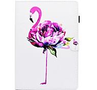 Недорогие -Кейс для Назначение Apple iPad 10.5 iPad (2017) Бумажник для карт со стендом Флип С узором Чехол Фламинго Твердый Искусственная кожа для