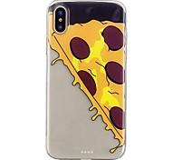 Недорогие -Кейс для Назначение Apple iPhone X iPhone 8 С узором Кейс на заднюю панель Продукты питания Мягкий ТПУ для iPhone X iPhone 8 Pluss iPhone