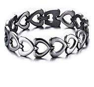 cheap -Men's Women's Stainless Steel Heart Chain Bracelet - Fashion Silver Bracelet For Gift Daily