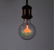 cheap -1pc 1.5W E26/E27 G80 Warm White 2300 K Retro Decorative Incandescent Vintage Edison Light Bulb AC 220-240V V