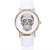 cheap -Women's Quartz Wrist Watch Chinese Skull Casual Watch PU Band Casual Skull Unique Creative Watch Black White Blue Red Orange Brown Green