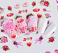 cheap -1 Flower Cute Nail Decals Nail Wraps Nail Sticker As Picture (color may vary by monitor) Nail Art Design Decoration