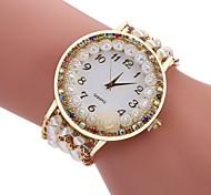 cheap -Women's Casual Watch Fashion Watch Bracelet Watch Chinese Quartz Imitation Diamond Fabric Band Casual Bohemian Black White Blue Red Brown