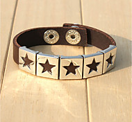 cheap -Men's Bracelet , Hip-Hop Gothic Leather Alloy Circle Star Jewelry Going out Street Costume Jewelry Black Coffee