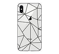 Hülle Für Apple iPhone X iPhone 8 Plus Transparent Muster Rückseitenabdeckung Geometrische Muster Weich TPU für iPhone X iPhone 8 Plus