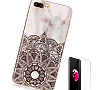 cheap -Case For Apple iPhone X iPhone 8 Plus Pattern Back Cover Marble Soft TPU for iPhone X iPhone 8 Plus iPhone 8 iPhone 7 Plus iPhone 7