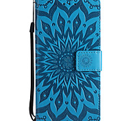 cheap -Case For Nokia Lumia 635 Nokia Lumia 650 Nokia Lumia 640 Nokia Nokia 8 Nokia 6 Card Holder Wallet with Stand Embossed Full Body Cases