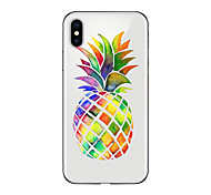cheap -Case For Apple iPhone X iPhone 8 Plus Transparent Pattern Back Cover Fruit Soft TPU for iPhone X iPhone 8 Plus iPhone 8 iPhone 7 Plus