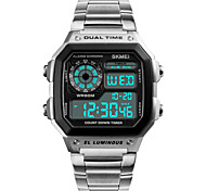 preiswerte -Herrn digital Digitaluhr Armbanduhr Sportuhr Japanisch Alarm Kalender Chronograph Wasserdicht Nachts leuchtend Stopuhr Duale Zeitzonen