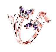 Недорогие -Жен. манжета кольцо Цирконий Мода Розовое золото Позолота В форме банта Бижутерия День рождения Подарок
