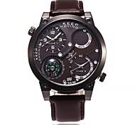 Недорогие -Муж. Повседневные часы Спортивные часы Наручные часы Китайский Цифровой Компас Крупный циферблат Кожа Группа На каждый день Cool Черный