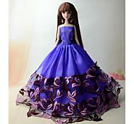 Недорогие -Вечеринка Платья Для Кукла Барби Полиэстер Платье Для Девичий игрушки куклы