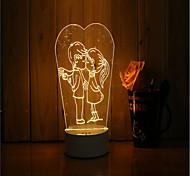 Недорогие -1 набор 3d настроение ночь свет рука чувство dimmable usb питание подарок лампа любят друг друга