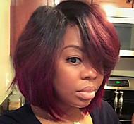 Недорогие -Парики из искусственных волос Прямой Стрижка боб плотность Без шапочки-основы Жен. Красный Знаменитый парик Парик из натуральных волос