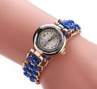 cheap -Women's Fashion Watch Bracelet Watch Wrist watch Chinese Quartz Imitation Diamond Fabric Band Casual Bohemian Black White Blue Red Brown