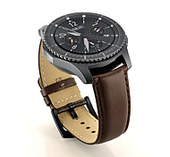 cheap -Watch Band for Gear S3 Classic Samsung Galaxy Classic Buckle Genuine Leather Wrist Strap