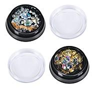 abordables -Bijoux à ongles Métallique Cristal Elégant Mode Adorable Haute qualité Quotidien Nail Art Design