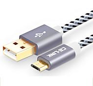 abordables -CE-Link USB 2.0 Câble, USB 2.0 to Micro USB 2.0 Câble Mâle - Femelle 2.0m (6.5ft)