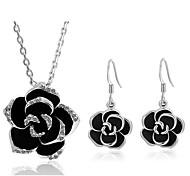 abordables -Mujer Pendientes colgantes Collar Cristal Diamante Sintético Legierung Flor Dulce Diario 1 Collar Pendientes Joyería de disfraz