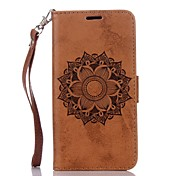 cheap -Case For Samsung Galaxy Card Holder Wallet with Stand Flip Embossed Full Body Cases Mandala Hard PU Leather for Grand Prime Core Prime