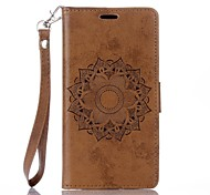 cheap -Case For Sony Sony Xperia XA Sony Xperia X Card Holder Wallet with Stand Flip Embossed Full Body Cases Mandala Hard PU Leather for Sony