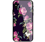 cheap -Case For Apple iPhone X iPhone 8 Pattern Flower Hard for
