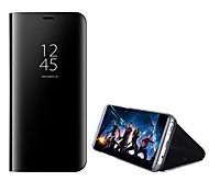 Недорогие -Кейс для Назначение SSamsung Galaxy S8 Plus S8 со стендом Зеркальная поверхность Флип Авто Режим сна / Пробуждение Чехол Сплошной цвет
