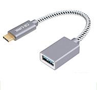 abordables -CE-Link USB 2.0 Adaptateur, USB 2.0 to USB 3.0 Type C Adaptateur Mâle - Femelle 0.15m (0.5Ft)