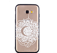 cheap -Case For Samsung Galaxy A8 2018 A8 Plus 2018 Transparent Pattern Embossed Back Cover Lace Printing Hard PC for A5(2018) A7(2018) A3(2017)