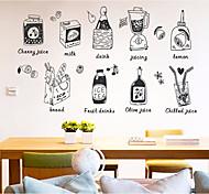 Недорогие -Еда и напитки Продукты питания Наклейки 3D наклейки Декоративные наклейки на стены, Бумага Украшение дома Наклейка на стену Стена