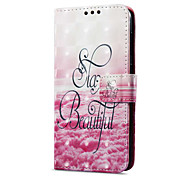 cheap -Case For Huawei P9 lite mini Card Holder Wallet with Stand Flip Magnetic Pattern Full Body Cases Scenery Hard PU Leather for P9 lite mini