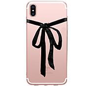 Недорогие -Кейс для Назначение Apple iPhone X iPhone 8 Прозрачный С узором Задняя крышка Соблазнительная девушка Мягкий TPU для iPhone X iPhone 8