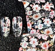Недорогие -1pcs Наклейка для фольги Шаблон шаблона для ногтей Наклейки Формы для ногтей Цветы