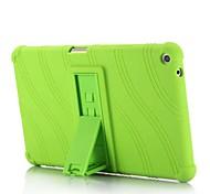 abordables -Coque Pour HUAWEI MediaPad T3 8.0 Avec Support Coque Couleur Pleine Rayé Motif Flexible Silicone pour Huawei MediaPad T3 8.0