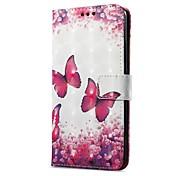 Недорогие -Кейс для Назначение Huawei Mate 10 pro Mate 10 lite Бумажник для карт Кошелек со стендом Флип С узором Магнитный Чехол Бабочка Твердый