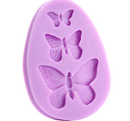 cheap -Mold Butterfly For Pie For Cookie For Cake Silicone Eco-friendly DIY 3D