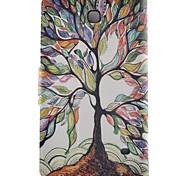 Недорогие -Кейс для Назначение SSamsung Galaxy Tab 4 8.0 Бумажник для карт со стендом Флип С узором Авто Режим сна / Пробуждение Чехол дерево Твердый