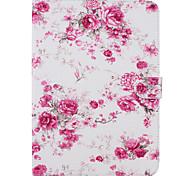 Недорогие -Кейс для Назначение Samsung Бумажник для карт Кошелек со стендом С узором Авто Режим сна / Пробуждение Чехол Цветы Твердый Кожа PU для