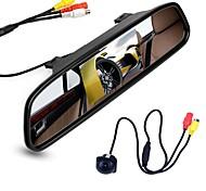 Недорогие -ziqiao 4,3-дюймовый цифровой tft ЖК-монитор зеркала и камеры заднего вида камеры ночного видения