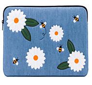 Недорогие -рукава для нового macbook pro 13-дюймовый macbook-воздух 13-дюймовый macbook pro 13-дюймовый цветок оксфордской ткани