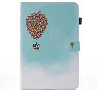 Недорогие -Кейс для Назначение SSamsung Galaxy Tab A 10.1 (2016) Кошелек со стендом Флип С узором Авто Режим сна / Пробуждение Чехол Воздушные шары