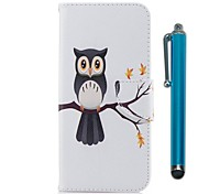 cheap -Case For Apple iPhone X iPhone 8 Plus Card Holder Wallet with Stand Flip Magnetic Full Body Cases Owl Hard PU Leather TPU for iPhone 8