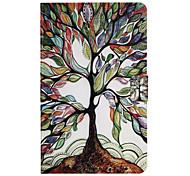 Недорогие -Кейс для Назначение SSamsung Galaxy Tab A 10.1 (2016) Бумажник для карт со стендом Флип С узором Авто Режим сна / Пробуждение Чехол дерево