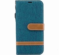 cheap -Case For Samsung J5 (2017) J3 (2017) Card Holder Wallet Shockproof with Stand Flip Full Body Cases Solid Color Hard Textile for J5 (2017)