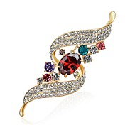 cheap -Women's Brooches Diamond Cubic Zirconia Designed in China Oil Painting Zircon Imitation Diamond Alloy Jewelry For Party Carnival
